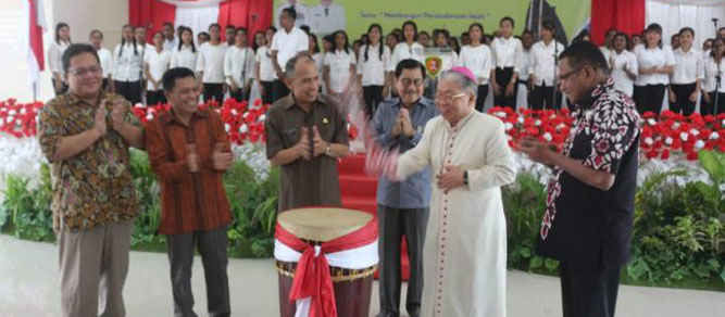 Pembukaan pertemuan koordinasi teknis antara panitia pelaksana Pesparani dengan Kakanwil Kementerian Agama, Ketua LP3KN, LP3KD dan Ketua Kontingen seluruh Indonesia