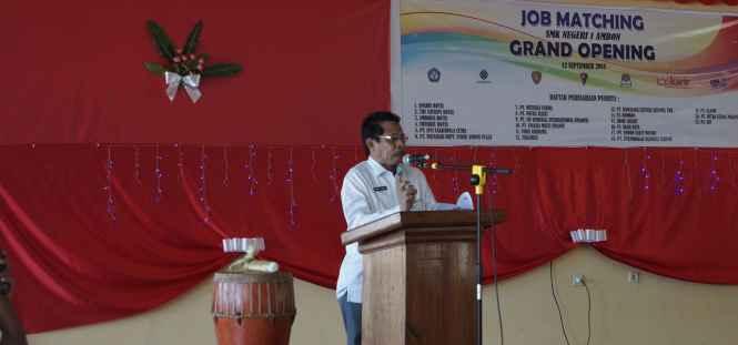 Sekda Maluku Buka Kegiatan Pemasaran Tamatan SMK atau Job Matching