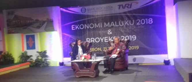 Kepala Perwakilan BI Maluku Bambang Pramasudi, Sedang Live di TVRI Ambon.