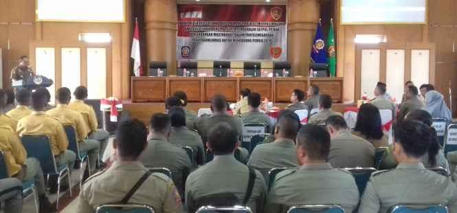 Suasana Pembukaan Raker OPD SatPol PP Se-Maluku.