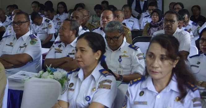 Peserta Foum SKPD dan Rakernis Dishub Maluku.