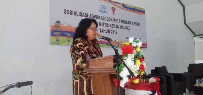 Plt. Kepala Perwakilan BKKBN Provinsi Maluku, Dra. Renta Rego.