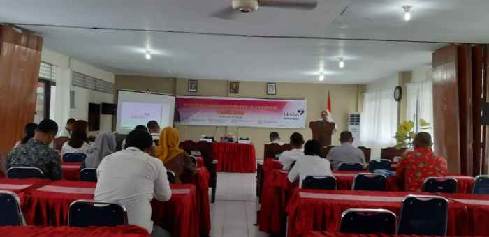 Peserta kegiatan adalah Pokja Advokasi Program Banggakencana Kabupaten/Kota Se-Maluku.