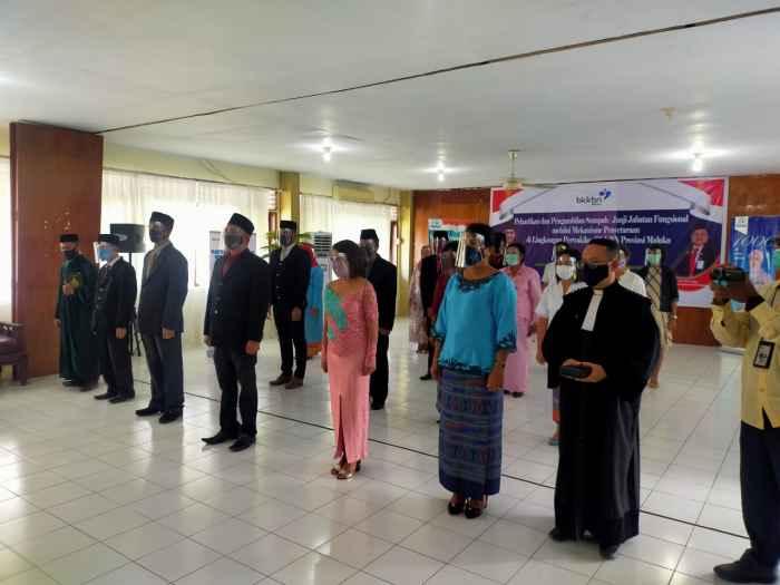 Sebanyak 21 Orang Tenaga Administrasi BKKBN Maluku Dilantik Jadi Tenaga Fungsional.