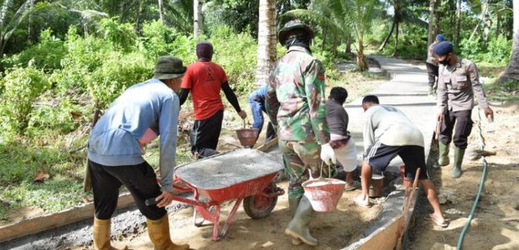 Program TMMD di Kabupaten Buru Capai 20 Persen