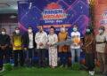 Foto bersama pemenang undian Panen Hadiah Simpedes dengan Wakil Bupati Maluku Tengah Marlatu L Leleury bersama Kapores Malteng dan Dandim Masohi.
