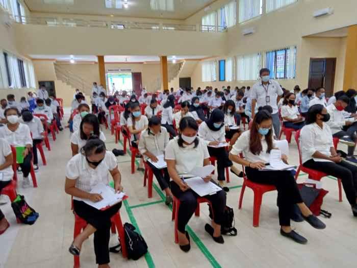 Suasana Tes Rekrutmen Pelatihan Berbasis Kompetensi (PBK) di Balai Latihan Kerja (BLK) Ambon.