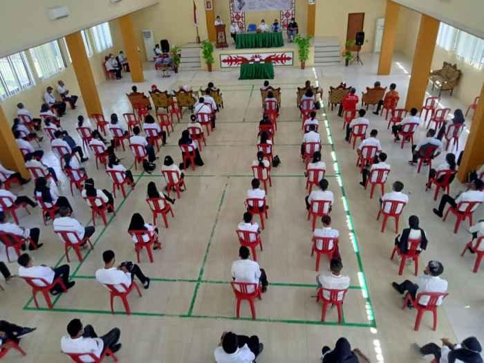 Suasana Acara Pembukaan Pelatihan Berbasis Kompetensi Tahap III di BLK Ambon, Rabu (24/3/2021).